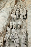 The terracotta army, distributed over three large underground platforms and guarding the first emperor Qin Shi Huangdi´s tomb. It lies 23Km south of X...