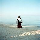 Beduinkvinna vid Rõda havet, Sinaiõken, Egypten