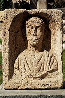 Sculpture at museum, Damasc. Syria