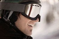 Young Man in Snowboarding Gear
