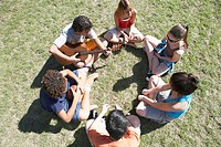 Group of Teenager on Lawn