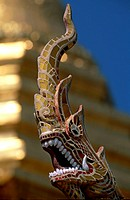 Close-up of a statue, Thailand