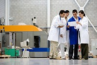 Fatronik Research Centre, San Sebastian Technological Park, Donostia, Gipuzkoa, Basque Country. Technicians in workshop