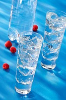 Raspberry and cranberry water