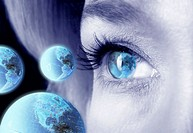 Woman´s Eye and Globes