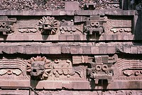 Detail Showing Snakes from Sculptural Program at the Pyramid of Quetzalcoatl