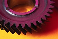 Close-Up of Sprockets on a Gear Wheel