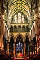 Interior of the Abbey Church of Bath