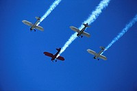 Biplanes Leaving Vapor Trails