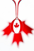 Water drops, national flag, Canada   Water, drops, ensign, national colors, maple leaf, red-white process, sequence course concept nationality nationa...