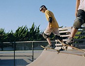 Teen Skateboarder Casting Off