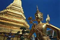 Apsaras and Golden Stupa at Wat Phra Kaeo