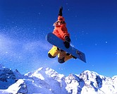 winter sports, winter, Snowboarding, jump, action, woman, snowboard, Snowboard, Bernina region, Engadine, Piz Bernina,