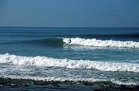 Spain, Canaries, island, grain Canaria,  Maspalomas, sea, waves, surfers,   Canary islands, Atlantic, ocean, blue, surf, breakers, surfers, sport, hob...