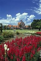 Tudor towers, Government gardens, Rotorua, New zealand.