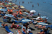 People, at, beach,, Bay, of, Malia,, Crete,, Greece