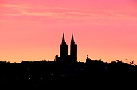 France, Manche (50), Coutances, catedral at sunrise