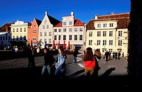 Estonia (Baltic States), Tallinn city, the City Hall Square, the old town´s centre