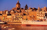 Malta, Vittoriosa, small town in front of Valetta