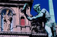 Belgium, Antwerp (Antwerpen), Town Hall and Brabo fountain