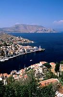 Greece, Dodecanese, Symi Island, the port of Gialos