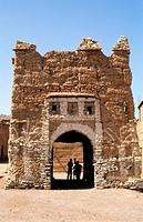 Morocco, Anti Atlas, entrance of Ait Kin village close to Tata