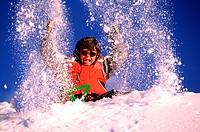 France, Savoie (73), Trois Vallees ski area, Courchevel (model release ok)