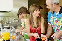 Teenagers in Kitchen