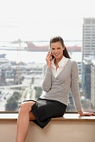 Businesswoman on Cell Phone