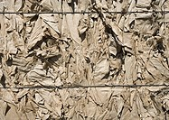 Bales of used cardboard