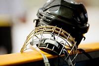 Close-up of a helmet