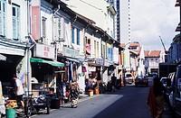 Buildings along a street, Singapore
