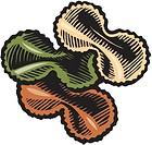 Colorful bowtie pasta