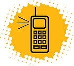 An illustration of a cellular phone