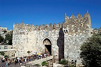 Israel, Jerusalem, Old City Wall, Damascus Gate