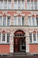 Entrance, of, Mayor, Hintze, house, Stade, Lower, Saxony, Germany