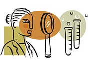 A picture of a woman at a medical research lab