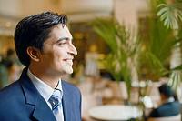 Close-up of a businessman smiling