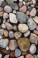 Pebbles, colorfully, Germany, Mecklenburg-Western Pomerania, reprimands, island, 04/2006