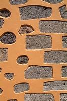 Spain, Canaries, island grain Canaria, Agüimes, old part of town, wall, detail,