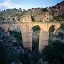 Peña Cortada Roman aqueduct, Chelva. Valencia province, Comunidad Valenciana, Spain