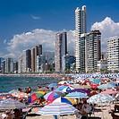 Levante beach. Benidorm. Costa Blanca. Alicante province. Spain