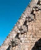 Staircase. Pyramid of the Magician. Uxmal. Yucatán. Mexico.