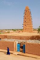 Niger. Agadez. Door of the desert. The Great Mosque build of mud, 16 century.