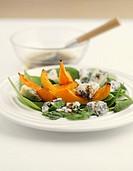 Salad of baked pumpkin and Gorgonzola