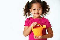 Girl With a Toy Watering Can