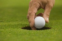 Golfer Talking Ball from Hole