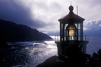 "The Heceta Head Lighthouse is circa 1894. The lighthouse is a working lighthouse. From a height of 205 feet above the ocean, it's ""first order"" Fresne..."