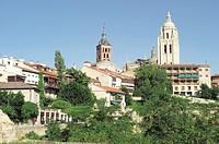Spain, Castilla leon, Segovia, City, Tower, Building, Buildings