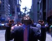 Office worker, Fifth Avenue, Midtown, Manhattan, New York, USA